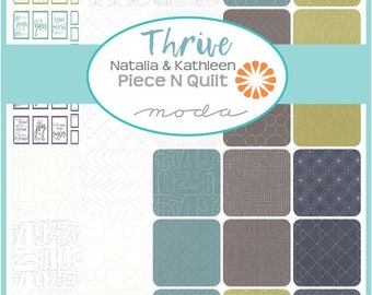 """SALE Fabric Moda Thrive Layer Cake 10"""" Precut Fabric Quilting Cotton Squares Natalia and Kathleen 10900LC"""