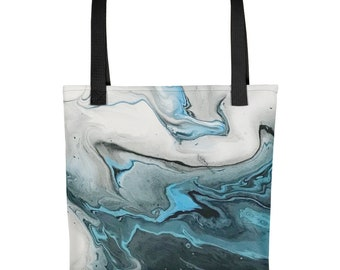Fluid Acrylic Art | Antarctica | Tote Bag