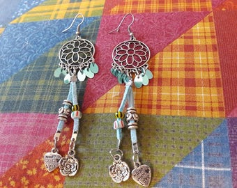 "Earrings long ""Indian style"""