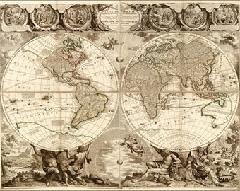 Poster, Many Sizes Available; World Map In French 1708