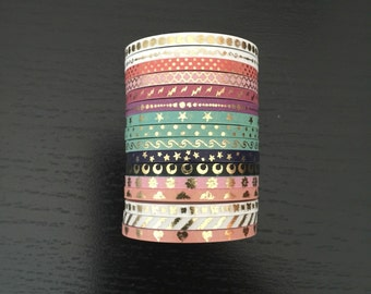 Skinny foil washi tape - 3mmx5m - 1 roll