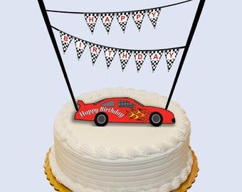 Race car cake topper Etsy