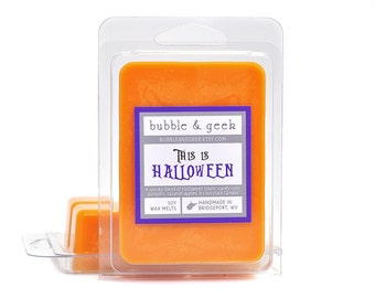 This Is Halloween Scented Soy Wax Tart Melts - candy corn, chocolate, caramel apple