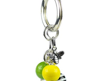 925 Sterling Silver Bee Key Ring