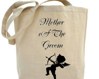 Mother of The Groom Tote - Wedding Tote - Cotton Canvas Tote Bag - Gift Bags - Wedding Favor