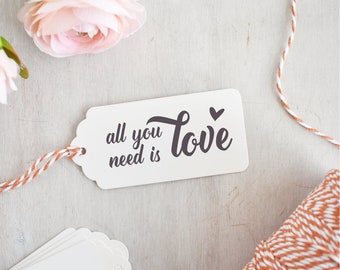 All You Need is Love Stamp | Valentines Stamp - Happy Valentines Day - Wedding Stamp - Romantic Sentiment - Beatles Quote