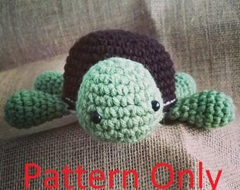 Crochet Turtle Amigurumi PATTERN