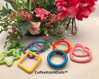 Closeout // Solid Shape Rings // Assorted // Baby Toys // Clink Rings // Noise Makers // Toy Insert // Craft Supplies // Toy Making