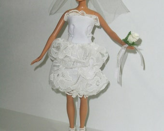 Barbie Haute Couture Style Wedding Dress and Accessories