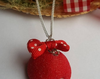 Necklace delicious sweet Strawberry necklace