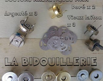 MAGNET, X 8 SETS, magnetic snaps 14 mm, 14mm silver metal magnetic clasp, bronze, gold