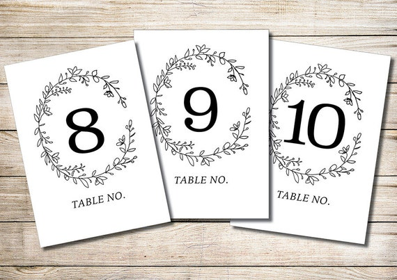 Juicy image with free printable table numbers 1 30