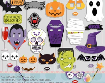 Halloween Photo Booth Props for Scary Halloween Party