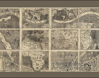 Poster, Many Sizes Available; Waldseemuller World Map, Universalis Cosmographia, C1507