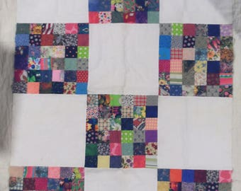 """Country-look Scrappy quilt top - measures 36"""" X 46"""" - QUILT TOP ONLY"""