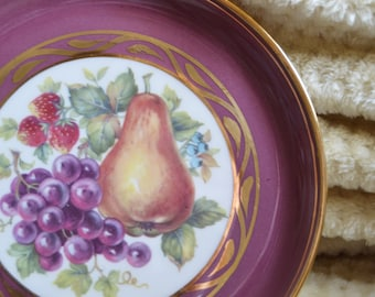Hyalyn Porcelain Plate Decorative Fruit Plate 1960s Retro Wall Art