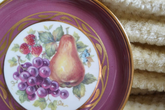 Hyalyn Porcelain Plate Decorative Fruit Plate 1960s Retro Wall Art & Hyalyn Porcelain Plate Decorative Fruit Plate 1960s Retro Wall