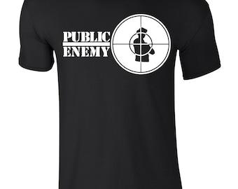 PUBLIC Enemy T-Shirt Old Skool RAP Hip HOP Fight The Power Fk The Police Def Jam
