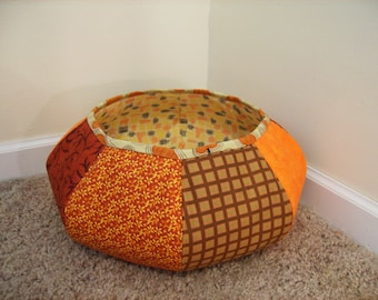 Huge Sale ... Fabric Floor Basket Pattern Tutorial ... NEW