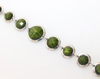 ON SALE: Hot Green Jasper Designer Bracelet #14-11