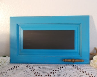 Aqua Turquoise Blue Chalkboard Rustic Shabby Chic Distressed Blackboard Beach Cottage Nautical Home Decor Wedding Chalk Board Decoration