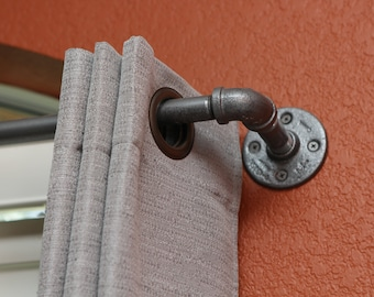 "Industrial Curtain Rod - Medium Industrial pipe curtain rod 49""- 96"" long"