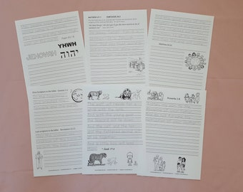 a3 set Handwriting Scriptures, Songs & Facts for JW Children