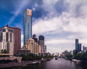 Melbourne and the Yarra Panoramic Fine Art Print