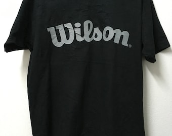 Free Ship Vintage90s Wilson Big Logo Original T-shirt /Xl 23.5