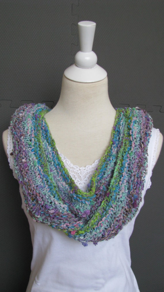 Instant Download Knitting Pattern Knitted Scarf Noro Yarn