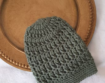 Toddler slouch beanie crochet hat
