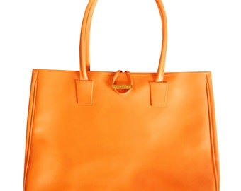 Lancôme apricot color bag