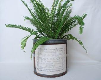 Planter-Wooden Planter-Vintage Planter-Storage-Home Decor-Wooden Barrel