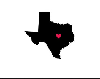 texas heart svg dxf jpeg png file stencil monogram frame silhouette cameo cricut clip art commercial use