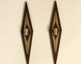 Beautiful pair of Mid-Century Candle Wall Scones