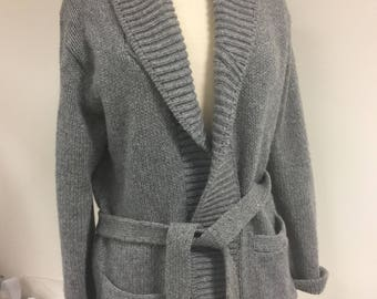 Vintage Gray Cardigan Sweater from Sears 1960s