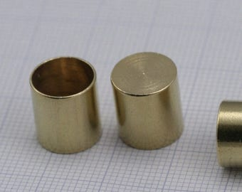 Ribbon end, 12 X 9 mm 7.7 mm inner without hole cord  tip ends, ends cap, ENC7 1562