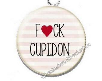 Cabochon resin fuck Cupid pendant