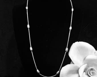 Sterling silver chain Kenneth Cole necklace beaded snake chain .925 vintage jewelry