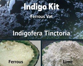 Indigo Kit Ferrous Vat Indigofera Tinctoria - Natural Dyes -