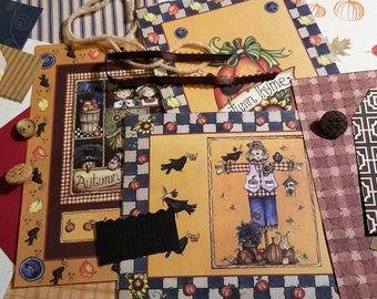 Autumn Crows Inspiration Kit (Collage/Crafting Pack/Paper Ephemera/Junk Journal/Embellishments/Pocket Letter/Pen Pal/Scrapbooking)