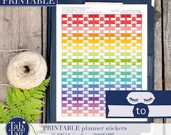 80 SLEEP stickers planner printable. Sleep tracking stickers, sleeping mask diary stickers, sleep tracker stickers in rainbow colors.