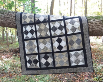 Instant Download - PDF Sewing Pattern -  Shuffle Layer Cake Friendly Quilt Pattern