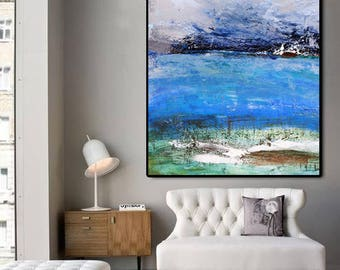 Contemporary Art, Natural Colors, Large acrylic Art, Original art, Canvas Wall Art, Art painting, Palette knife, Abstract Wall art, Painting