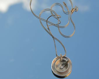 Sterling silver cup of tea with spoon pendant in sterling silver