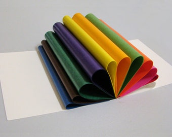 Translucent Wax Paper for making Waldorf Stars | Window Stars | Kite Paper | 100 sheets | Multi color | 6.25 inch squares
