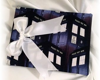 Doctor Who Wedding Guest Book, Navy Dr Who Guest Book, Scifi Wedding Guest Book, Doctor Who Guest Book