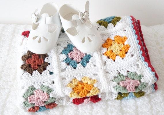Granny Square Baby Blanket Easy Crochet Pattern Toddler