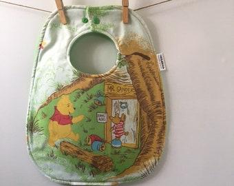 Winnie the Pooh Baby Gift - Vintage Winnie the Pooh Baby Bib - Winnie the Pooh Baby Shower Gift - Vintage Pooh Bear Baby Gift - Oversize Bib