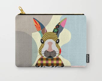 Bunny Pouch, Bunny Gifts, Bunny Wallet, Rabbit Pouch, Rabbit Gifts, Rabbit Wallet, Zipper Bag Purse, Bunny Zipper Pouch, Coin purse